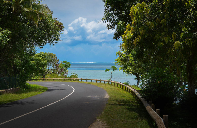 Views around every corner or Moorea... Beauty In Nature Calm Idyllic Lakeshore Leading Moorea Narrow Nature Non-urban Scene Ocean On The Road Outdoors Reflection Relaxing Moments Scenics Shadow Sky The Way Forward Tranquil Scene Tranquility Tree Tropical Climate Water