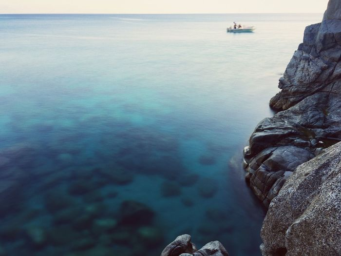 Passage (cold) Sea Water Nature Scenics Rock - Object Tranquility Tranquil Scene Beauty In Nature Day Horizon Over Water Outdoors Sky Transportation Nautical Vessel No People