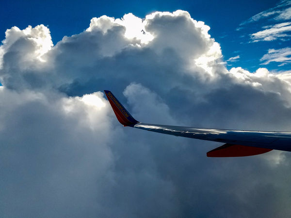 Sky Cloud - Sky Flying Motion Outdoors Airplane Day No People Plane Over The Clouds Clouds Window Seat Window Seat Airplane Wing Veiw From Above Southwest Airlines Flying High May 2017 Beauty In Nature Commercial Airplane Aircraft Wing Aerial View Transportation Aerospace Industry Nature Mid-air The Great Outdoors - 2017 EyeEm Awards