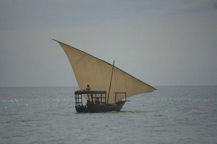 Zanzibar, Tanzania Dhow Dhowcruise Mode Of Transport Nautical Vessel Sailing Sea Stone Town Transportation Zanzibar Zanzibar_Tanzania On The Way