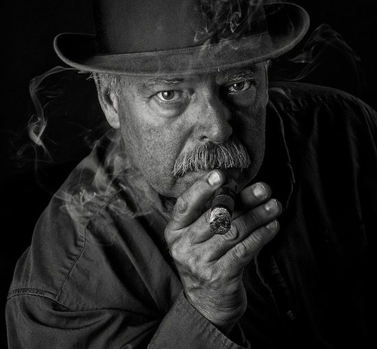 The Detective Black And White The Detective  Detective Smoking Smoke Fedora  Self Portrait Portrait Tough
