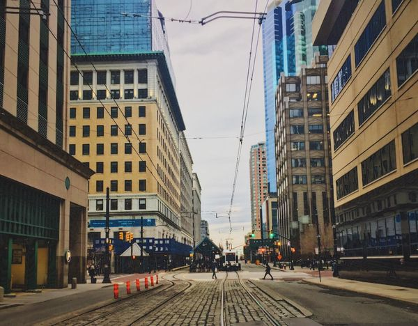Wandered around Exchange Pl today EyeEm Best Shots Streetphotography EyeEm New Jersey Eyeem Philippines New Jersey Jersey City Architecture Building Exterior Outdoors Tram Tracks EyeEm Gallery