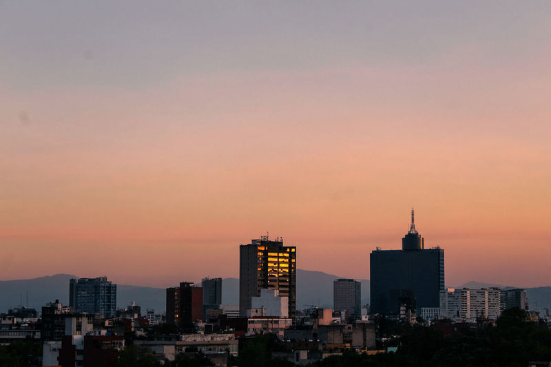La CDMX Skyscraper Sunset Urban Skyline Cityscape City Architecture Office Building Exterior No People Sky Building Exterior Cdmx17