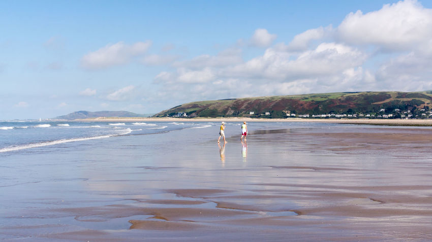 Scenes from Ynyslas Beach near Aberystwyth on August Bank Holiday 2016. Aberystwyth Beach Beach Photography Beautiful Scenery Blue Sky Cardigan Bay Clouds And Sky Ocean Reflections In The Water Scenic Scenics Sea Seascape Seascape Photography Shoreline Tranquil Scene Wales Water Waves, Ocean, Nature Ynyslas