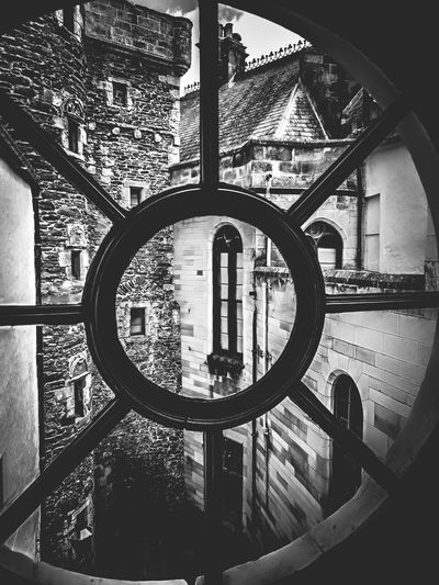 Castle Dunrobin Castle Scotland Old Buildings Window Circle Close-up Geometric Shape Building Cast Iron Historic