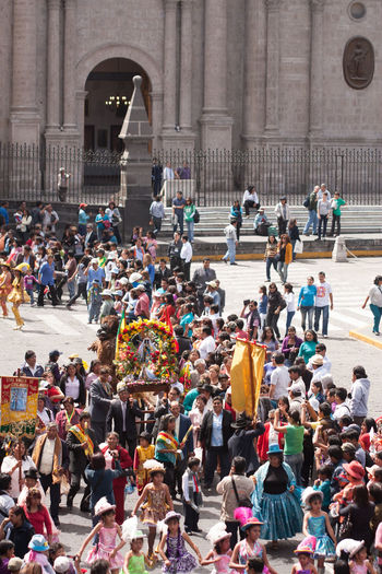 People participating in religious procession