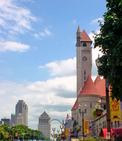 Arch Architecture Bell Tower Bell Tower - Tower Building Exterior Built Structure City City Life Clock Tower Cloud Cloud - Sky Day High Section History Local Landmark Market Street No People Outdoors Place Of Worship Sky St. Louis, MO Tall Tall - High Tower Union Station