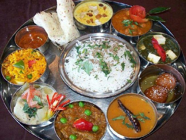 Food Porn Awards My Thali Indianfood Indianthali Rice Chapati Palakpaneer Sweetdish Indian Culture  Indianmasala
