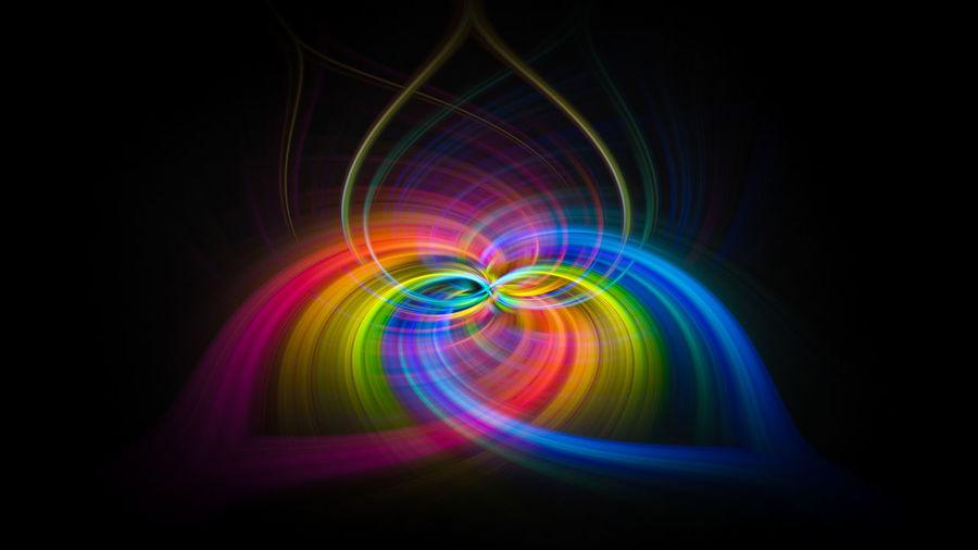 Heart shape multi colored vortex swirl spin background Multi Colored Illuminated Black Background No People Abstract Glowing Light - Natural Phenomenon Pattern Studio Shot Motion Night Creativity Backgrounds Shape Light Vibrant Color Lighting Equipment Colored Background Technology Black Color Bright