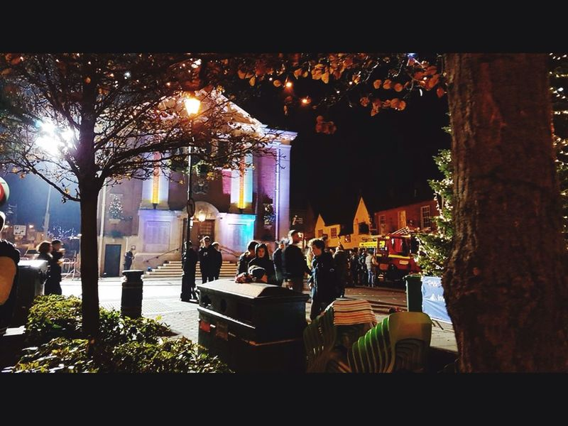 Christmas f lights switch on henely on Thames englamd Christmas Town