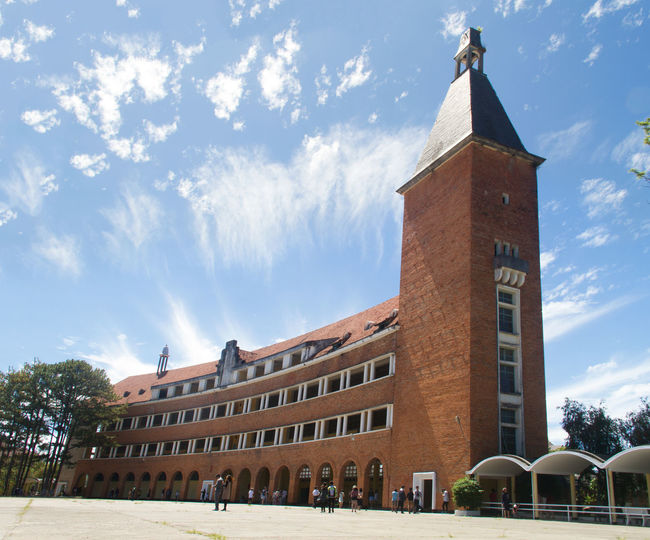 Dalat Lycée Yersin Architecture Building Exterior Built Structure Clock Tower Day History No People Outdoors Sky Tree