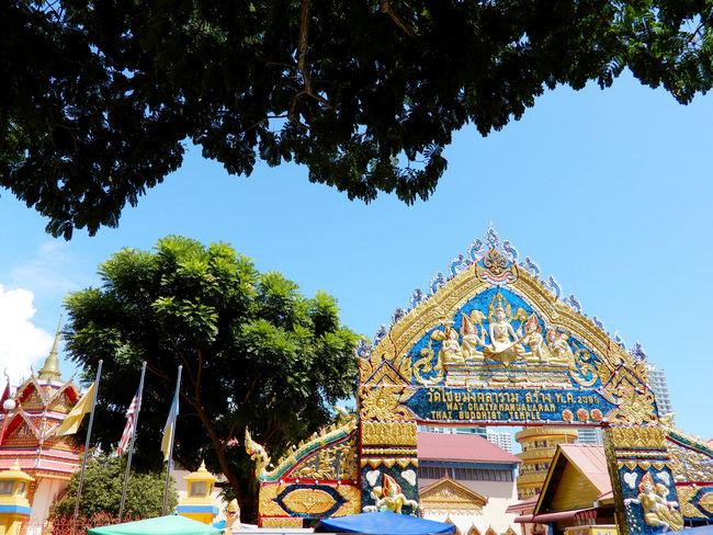 Chinese temple sculptures Ancient Architecture Art ASIA Asian  China Chinese Culture Dragon New Oriental Pagoda Pattaya Religion Roof Sculpture Siena Style Symbol Temple Thai Thailand.. Traditional Viharnra Sien Year