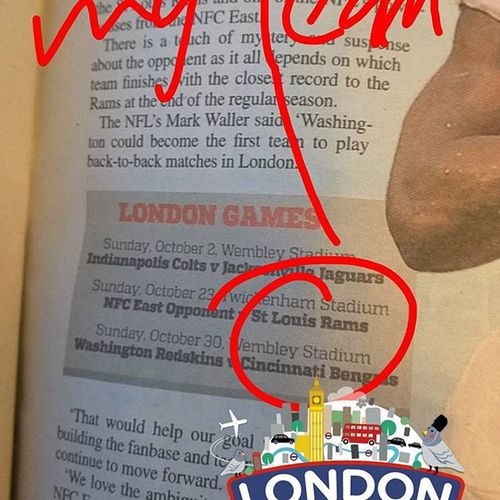 Londonlife Workroute Workmode Reading NFL Americanfootball Cantwait Londongames