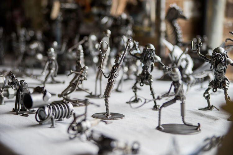 Metal Figures Art Crafts Figure Man Made Object Metal No People Statue Statues
