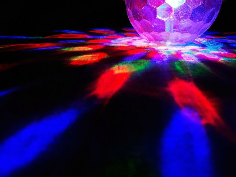 Bright lights full of Life. Multi Colored Abstract Futuristic Technology Spectrum No People Backgrounds Close-up Illuminated