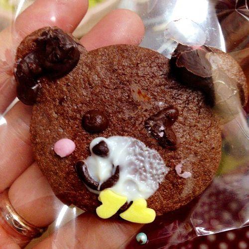 Chocolate Cute Bear Cookie Handmade Niece  5yearsold Valentinesday Chocolatecookie バレンタイン バレンタインデー クッキー くま 姪っ子 手作り チョコレート 5歳 チョコレートクッキー