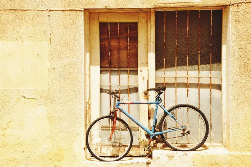 Bicycle in front of building