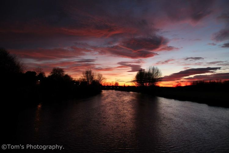 The river Trent Rivertrent River Nature Colours Sunset