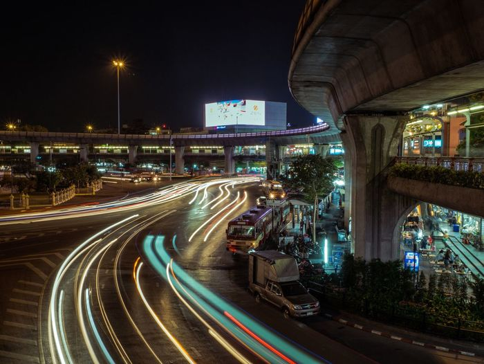 Night Light Trail Long Exposure Speed City Transportation Motion Road Street Traffic Blurred Motion Street Light High Street Architecture Illuminated No People Building Exterior Outdoors Sky First Eyeem Photo