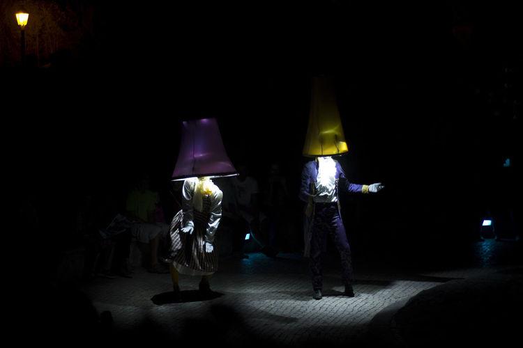 Cascais Couple Dancing Festival Da Luz Illuminated Light Night Performance Strange Couple Strange Shaps Teathre Teathre In The Street