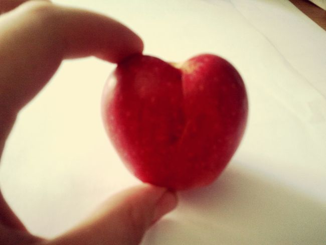 Taking Photo What We Have An Apple A Day Photo Collection Heart Apple Apple Heart Art Photo♡ Primavera 4eyemphotography Eyem Best Shot
