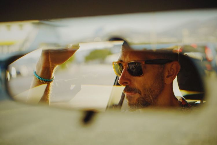 Not a cab driver Travel Photography EyeEm Gallery EyeEmBestPics EyeEm Selects EyeEm Best Shots Glasses Sunglasses Fashion One Person Real People Portrait Men Reflection Close-up Headshot Summer In The City