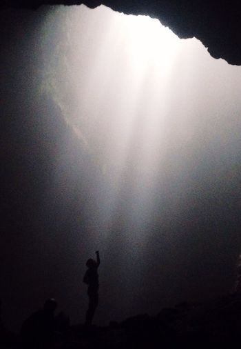 The Cave. The Light of Heaven. Journey Goa Jomblang Yogyakarta INDONESIA Darkness The Earth