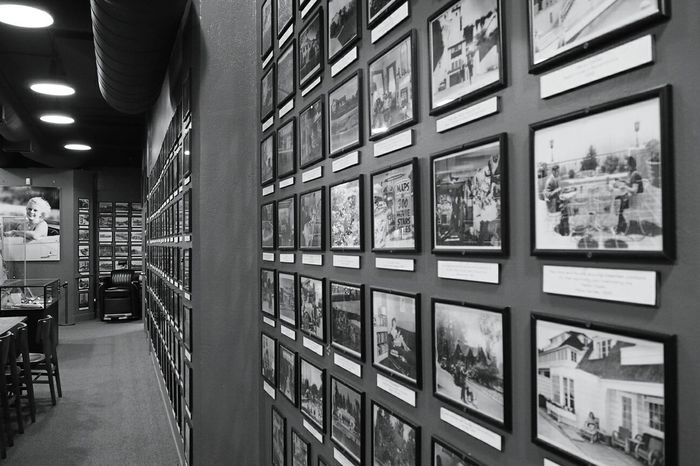 Indoors  Education Library Office Science Built Structure University Architecture No People Filing Cabinet Bookshelf Technology Day Photo Frames Hollywood Museum California Los Angeles, California Black And White Friday Modern Close-up Indoors