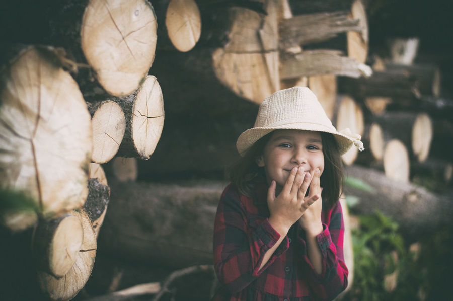 Upssss Child Smiling Smile Portrait Women Human Hand Social Issues Hat Close-up Farmer