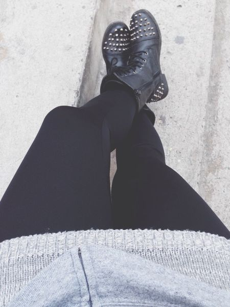 Cold Days Enjoying Life Black And White Boots