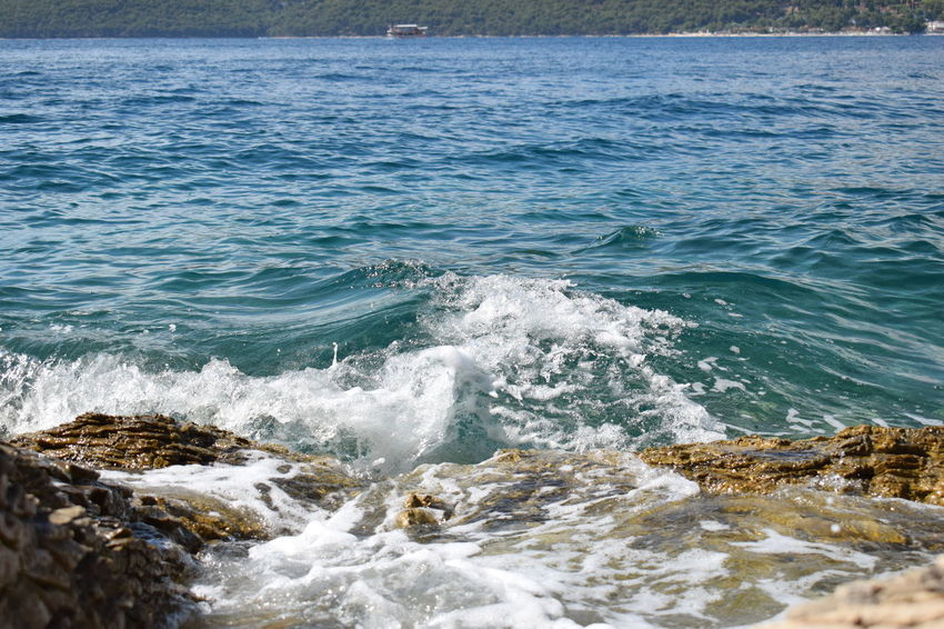 Adriatic Sea Beach Beauty In Nature Blue Croatia Croatiafulloflife Day EyeEm Nature Lover Nature Nature Nature_collection No People Outdoors Scenics Sea Stones & Water Water Wave Waves And Rocks Waves, Ocean, Nature