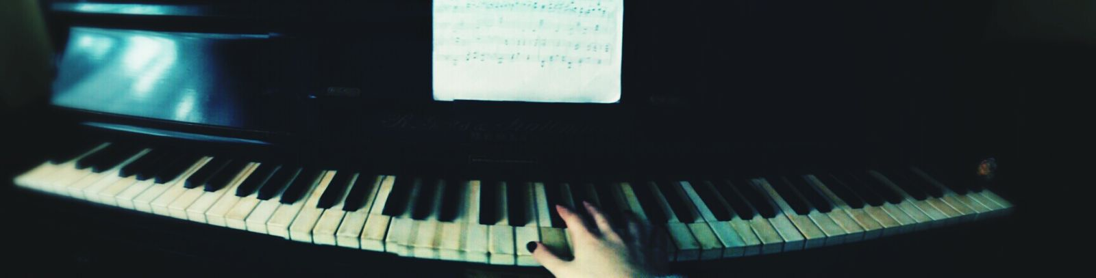 Old Piano Music Piano Time Notes