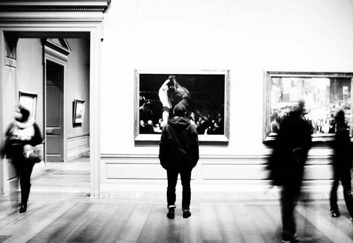 Blackandwhite Mesmerized Painting Art Caught In The Moment