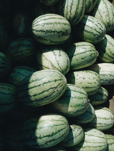 Watermelons for sale in market