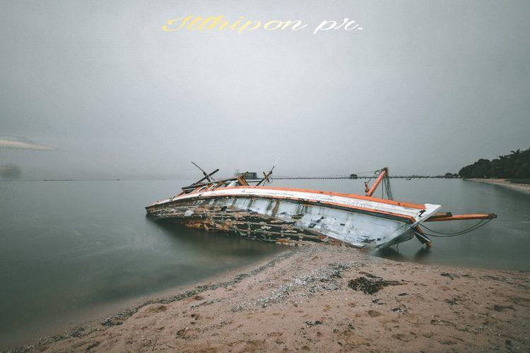 UnderSea Sunken Nautical Vessel Water Sea Beach Underwater Abandoned Damaged Sky
