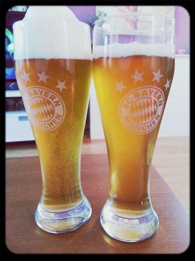 Endlich wieder Fußball! Fußball Fc Bayern München Telekom Cup 2013 Bier