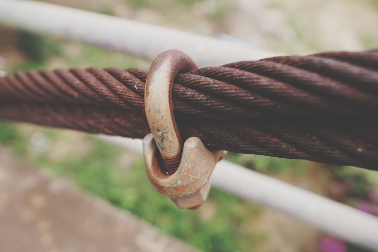 Wire Rope EyeEm Selects Rusty Strength Hanging Chain Metal Close-up