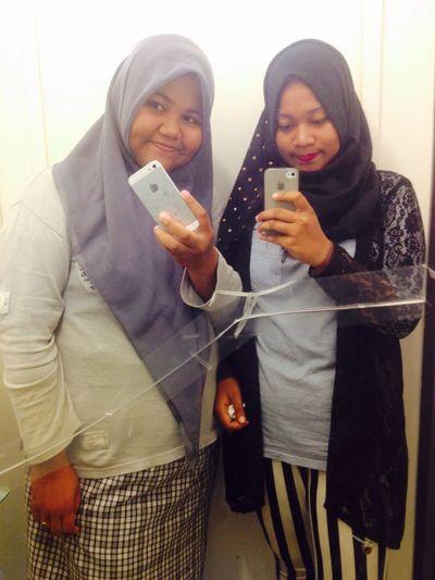 Hello World Meandmysister Enjoying Life Tester EyeEm Indonesia Eyeem Aceh Iloveaceh Anakaceh Mirror Picture
