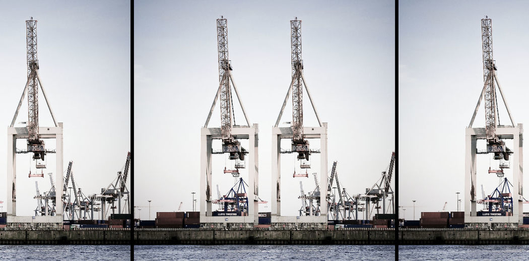 BIG City Containership Hamburg Harbour Harbour River Ship View Water