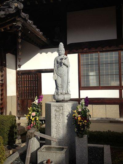 Japan Culture ASIA Stone Statue Asian Culture Japan Religious  Religion Flower Architecture