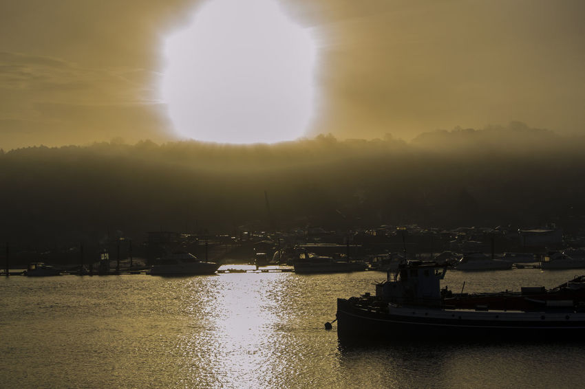 Planet Sun Sunrise Check This Out Relaxing Morning Sky Foggy Water Boat