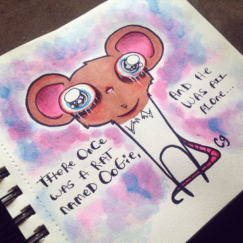 Art Creepy Drawing Doodle Cute Cartoon Sketch Oogieboogie
