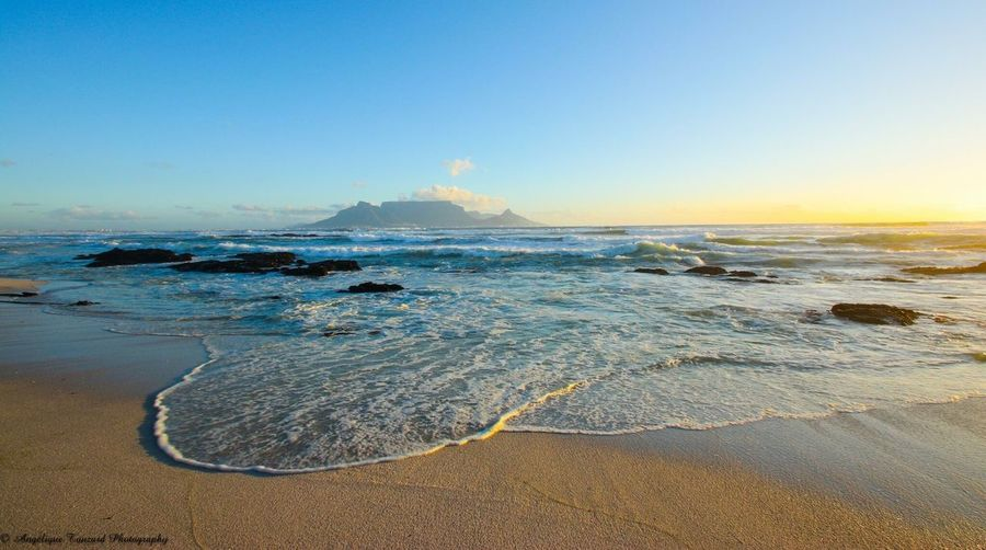 Be. Ready. View of Table Mountain in sunset Sunset Lovers #Table Mountain