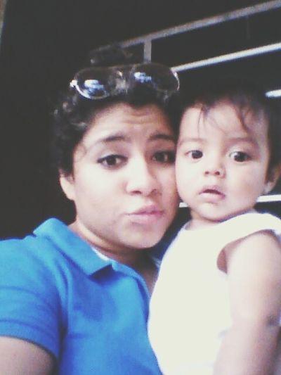 con mi bebe :)