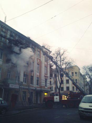 City Transportation Architecture The Week On Eyem Odessa Smoke Fire Firetruck Fireescape