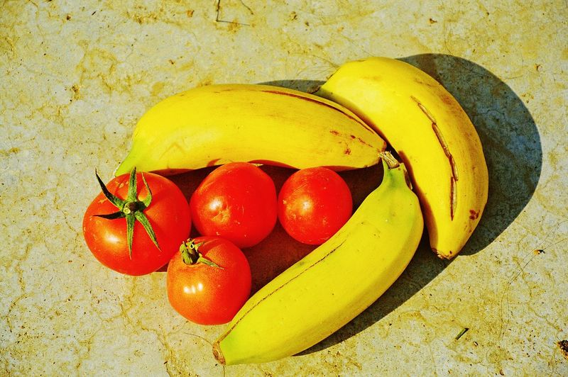 fresh fruit Banana Cute Fresh Produce Agriculture Farming Growth Fruit Vegetable Veg Veg-fruit Mix Food And Drink High Angle View No People Healthy Eating Fruit Red Day Food Freshness Close-up Nature