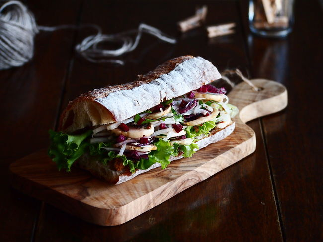 Salad Sandwich Bread Focus On Foreground Food Food And Drink Freshness Healthy Eating On The Table Ready-to-eat Sandwich Snack Still Life Table Temptation Vegetable Wellbeing