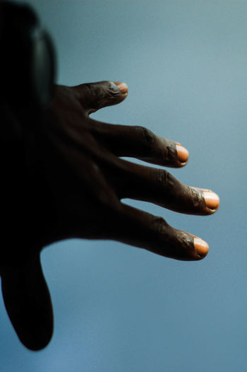 Close-up of hand