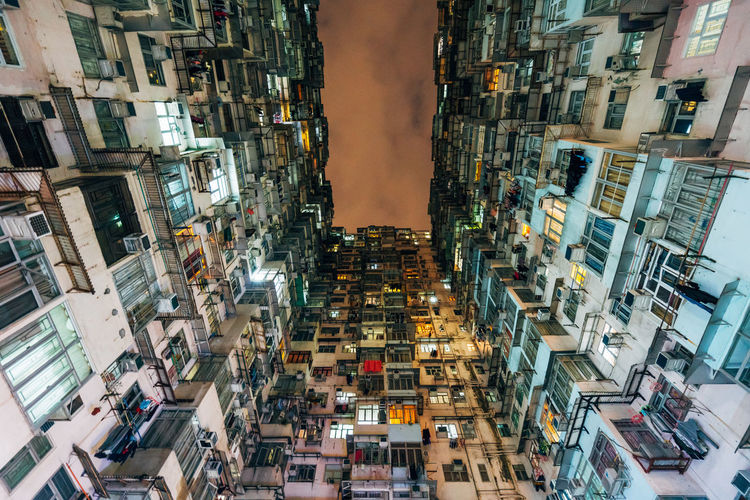 Montane Mansion Yick Fat Building Low Angle View Night Lights Architecture Buildings City Lookingup No People Residential Building Sky