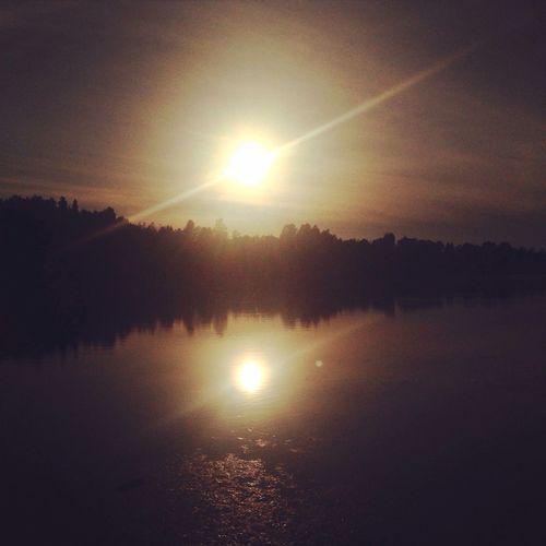 Autumn River Water Sunset
